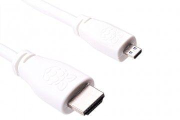 kabli RASPBERRY PI Micro-HDMI to HDMI Cable 1m, White, T7689AX