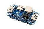 HATs WAVESHARE Ethernet - USB HUB HAT for Raspberry Pi, 1x RJ45, 3x USB, Waveshare 16595