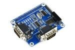 HATs WAVESHARE 2-Channel Isolated RS232 Expansion HAT for Raspberry Pi, Waveshare 17498