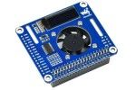 HATs WAVESHARE PWM Controlled Fan HAT for Raspberry Pi, I2C, Temperature Monitor, Waveshare 17951